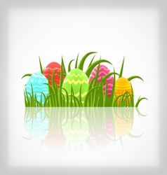 Easter natural background with traditional vector