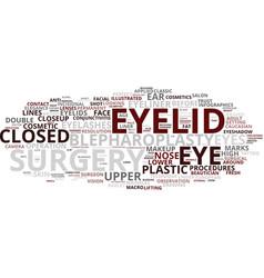 Eyelid word cloud concept vector