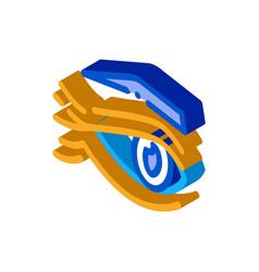 Eyelid wrinkles isometric icon vector