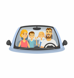 family trip - cartoon people character isolated vector image
