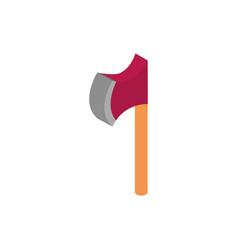 Farm tool ax rural isometric icon vector