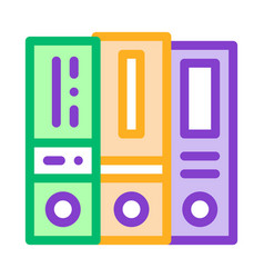 financial accounting folders reports icon vector image