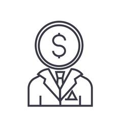 Financial consultant line icon sign symbol vector