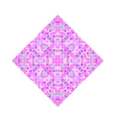 Geometrical isolated abstract tiled mosaic square vector