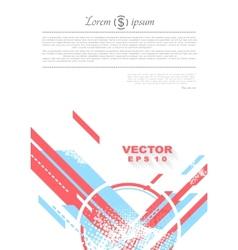 Geometry grunge tech minimal design vector