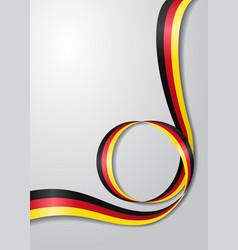 German flag wavy background vector