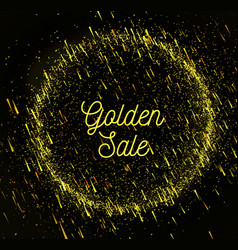 gold rain sale background vector image