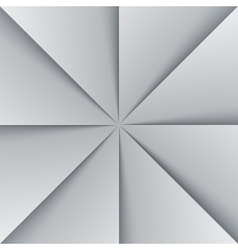 Gray and white folded paper triangles background vector