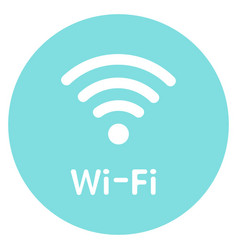 icon wi-fi free zone sign for vector image
