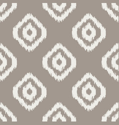 Ikat classic seamless pattern vector