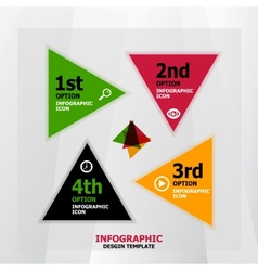 Infographic web banner design template vector image vector image