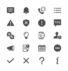 information and notification glyph icons vector image