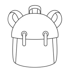 Kid backpack icon outline style vector