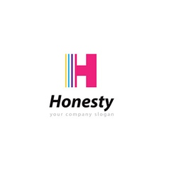 Letter H logo Template for your company vector