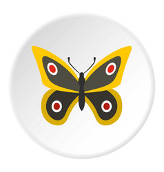 Little butterfly icon circle vector