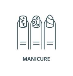 Manicure line icon linear concept outline vector