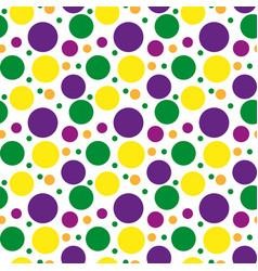 Mardi gras polka dots pattern repeating texture vector