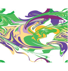 mardi gras seamless line marble pattern vector image
