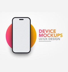 modern blank smartphone screen mockup template vector image
