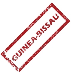 New Guinea-Bissau rubber stamp vector image