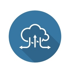 Online Cloud Solutions Flat Design Icon Long vector