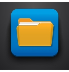 Open folder symbol icon on blue vector