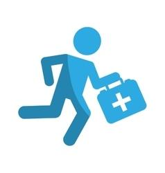 paramedic running with medical kit vector image