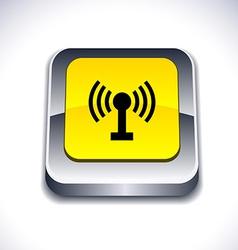 Radio 3d button vector