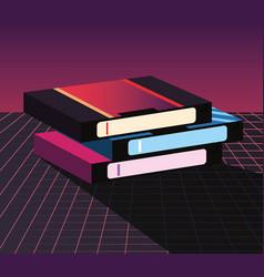 retro 80s style vector image