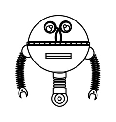 robot character isolated icon vector image