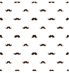 seamless pattern with a mustache various forms vector image