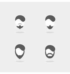set of hipster style vector image