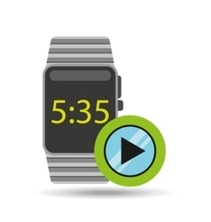 smart watch technology with video player vector image