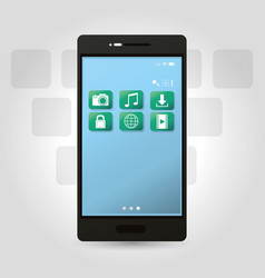 smartphone electronic device technology vector image