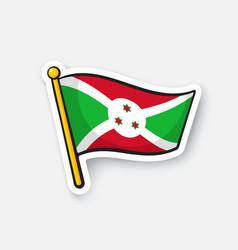 Sticker flag burundi vector