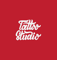 Tattoo studio handwritten trendy lettering vector