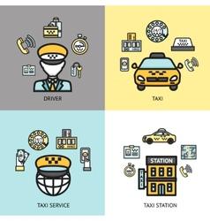 taxi service design concept flat vector image