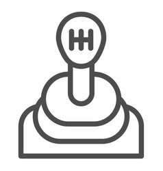 Transmission line icon gear shift vector