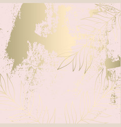 tropical worn floral pastel pink blush gold vector image