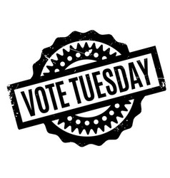 Vote tuesday rubber stamp vector