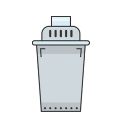 Water filter Flat color icon object vector