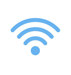 wi-fi symbol icon isolated on white background vector image