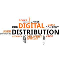 Word cloud - digital distribution vector