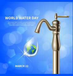 World water day background vector