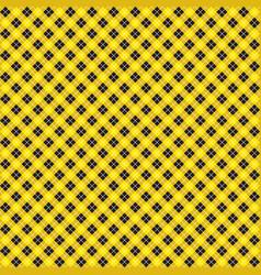 Yellow black argyle harlequin seamless pattern vector