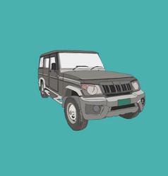 adventure off road car sketch vector image