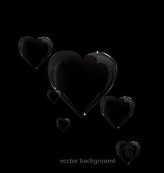 bubble hart vector image vector image
