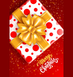 festive christmas greeting card vector image vector image