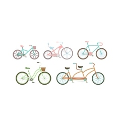 Old retro style bicycles vector image vector image