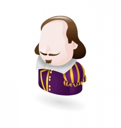 Shakespeare character icon vector image vector image
